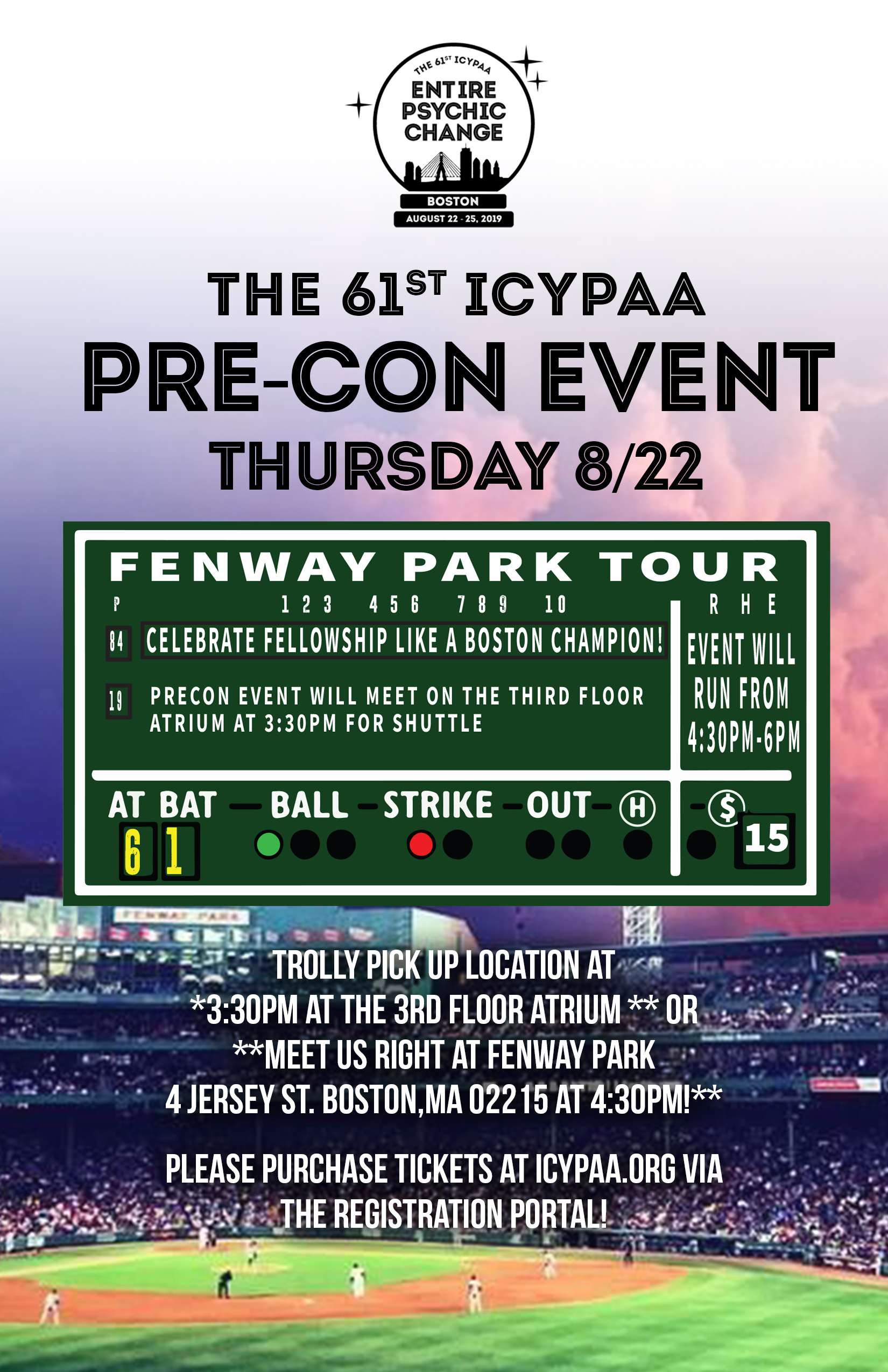 Fenway Tour Flyer